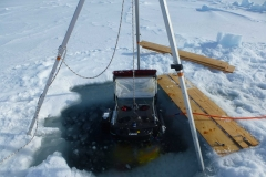 ROV with attached zooplankton net